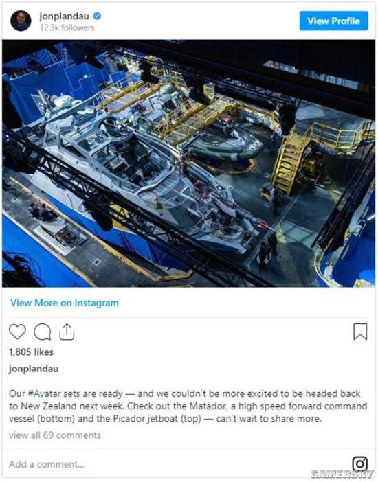 曝《阿凡达2》下周恢复拍摄 制作人晒战舰布景
